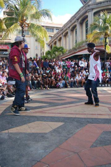 hiphop battle dance at caudan port louis