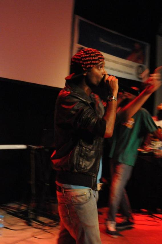 Kenjee Kennedy Rapping at IFM